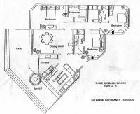 Ocean Front Penthouse 1501 floorplan