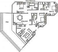 VDP Ocean View Penthouse 3402 floorplan