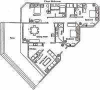 Villa 1402 Ocean Front Penthouse floorplan